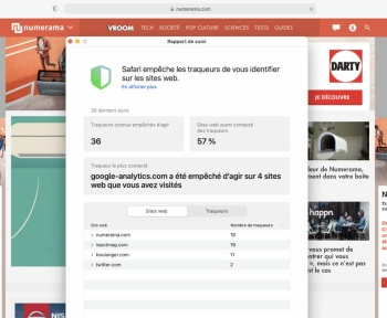 Apple ne bloque pas Google Analytics sur la prochaine version de Safari