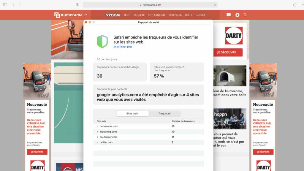 Apple ne bloque pas Google Analytics sur la prochaine version de Safari