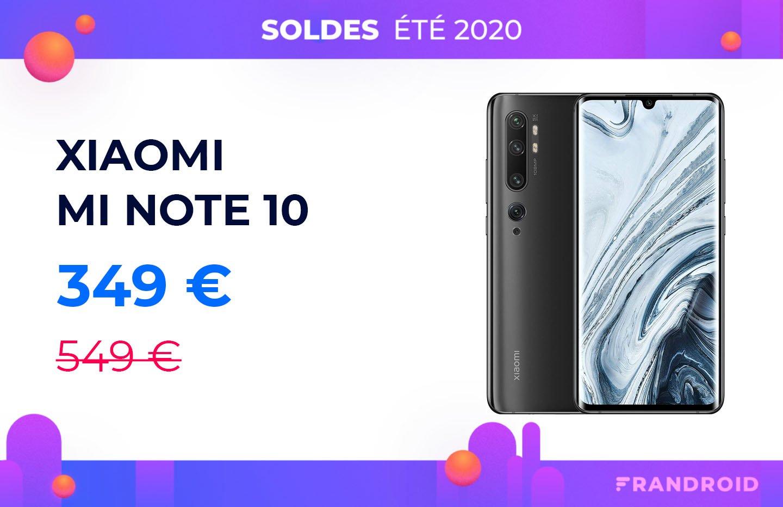 Le Xiaomi Mi Note 10 passe sous les 350 euros pour les soldes