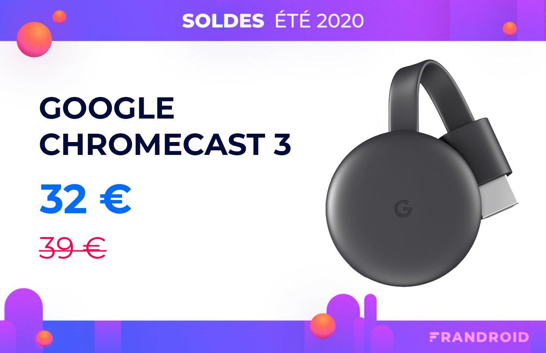 Le Google Chromecast 3 est de retour à prix réduit pendant les soldes