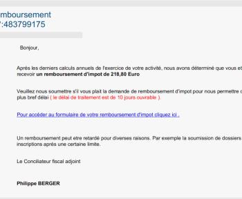 Ce phishing sur les impôts circule depuis 10 ans : pourquoi n'est-il toujours pas neutralisé ?