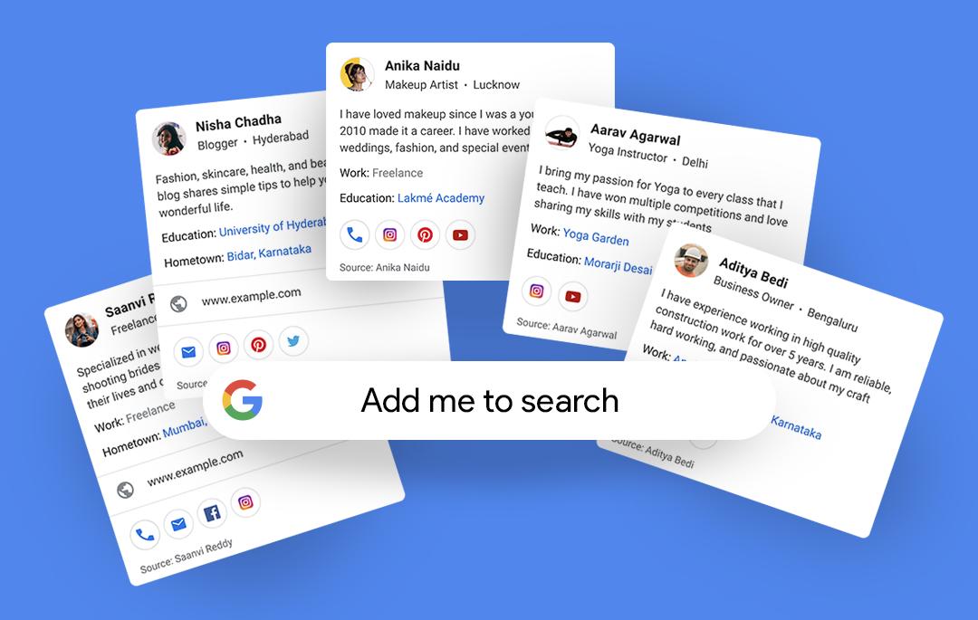 Google : bientôt un affichage de votre profil dans les résultats ?