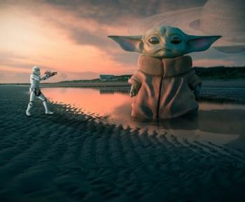 Banni de Tinder pour avoir posé avec un Baby Yoda photoshoppé