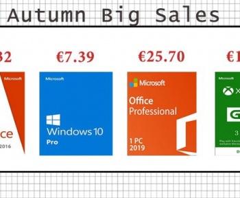 [Soldes d'Automne] Windows 10 Pro à 7.39€, Office 2016 Pro à 18.32€ et PlayStation Store à prix réduit !