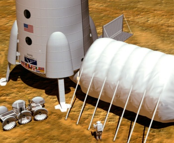 On pourrait peut-être construire des habitats «zéro déchet» sur Mars avec ce matériau