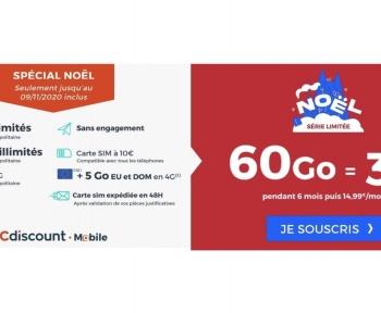 [Bon Plan] Derniers jours pour profiter de ce forfait 60 Go à 3,99 euros par mois