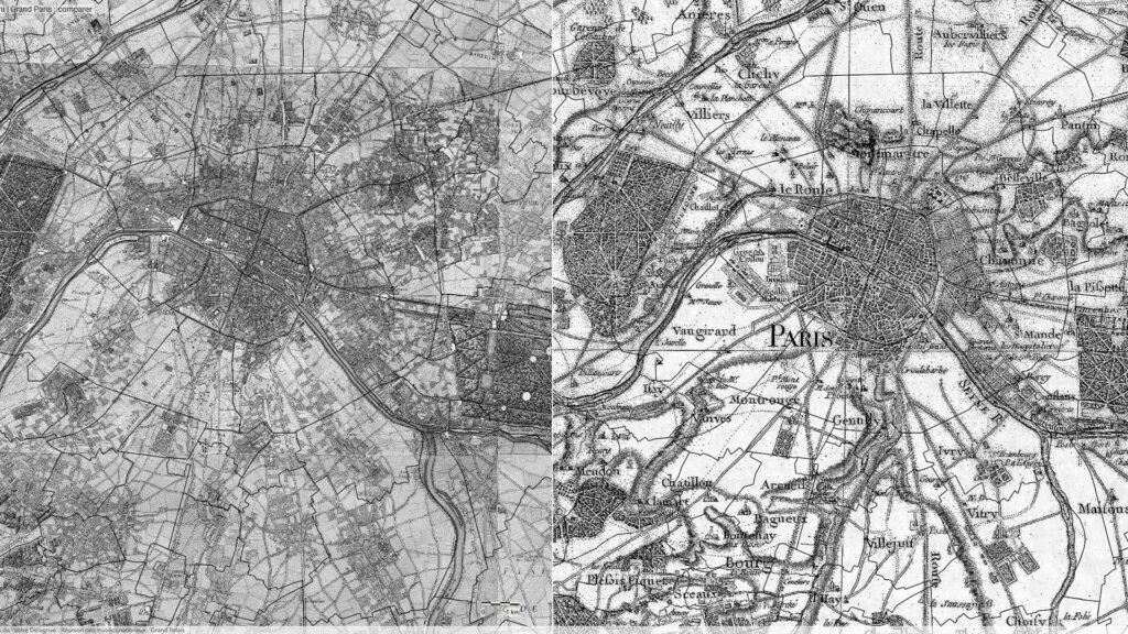 Explorez les plans historiques du Grand Paris du 18e siècle jusqu'à nos jours