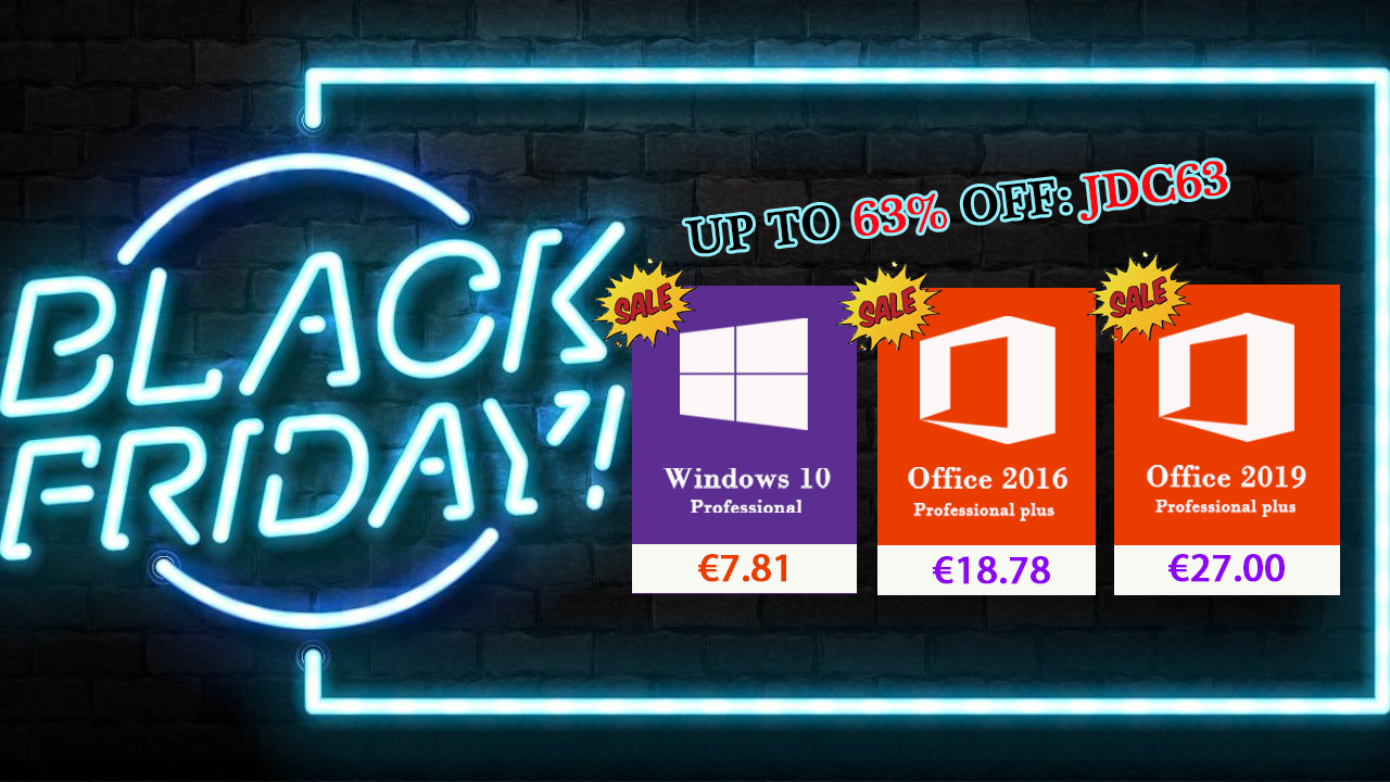[Black Friday] Windows 10 pro à 7,81€ et Office 2016 à 18,78€