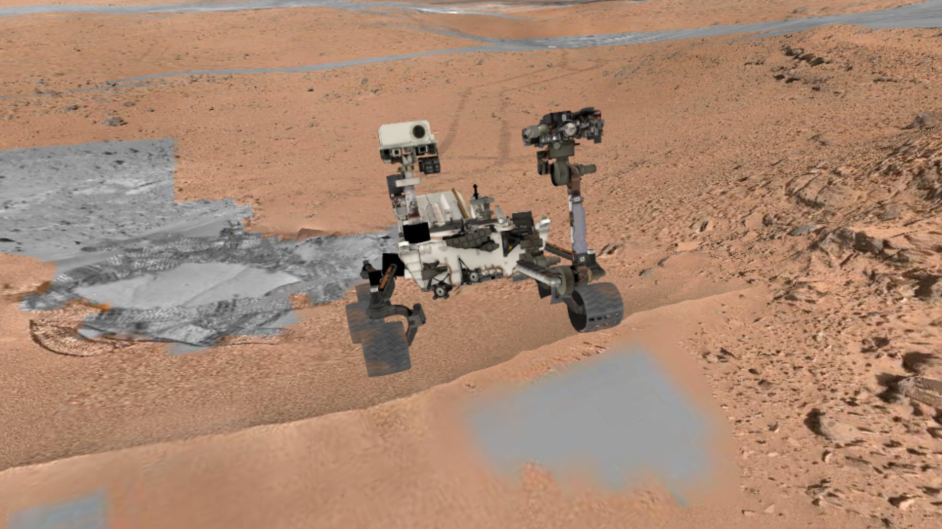 Explorez Mars en 3D avec Curiosity (presque) comme si vous y étiez