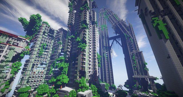 Google Earth converti dans Minecraft