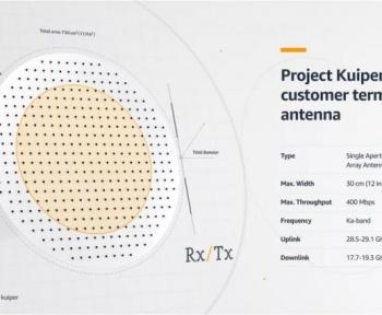 Amazon Kuiper : Le design des antennes qui nous permettront d'accéder au réseau internet satellite enfin révélé