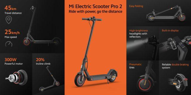 [Bon Plan] La trottinettes électriques Xiaomi Mi Electric Scooter Pro 2 à 388 euros !