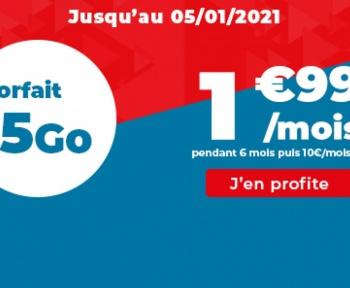 Ce forfait mobile 15 Go est à 1,99 €/mois, jusqu'à demain seulement