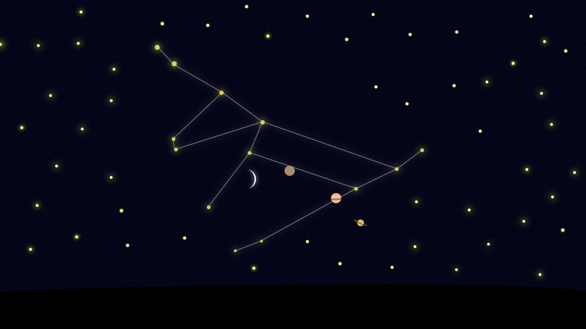 Ne manquez pas Mercure et Jupiter près d'un très fin croissant de Lune ce jeudi soir