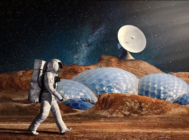 Voici à quoi ressembleront peut-être les fermes de Mars