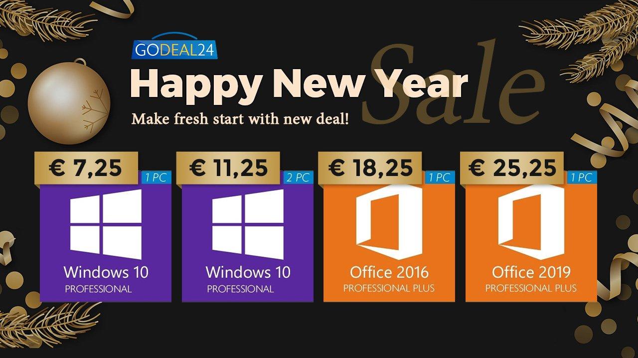 Windows 10 dès 5,60 euros, commencez bien l'année avec GoDeal24