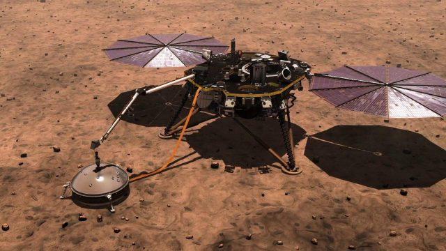 La NASA laisse tomber la taupe d'Insight
