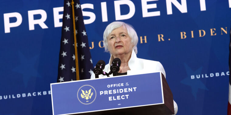 Treasury nominee Yellen is looking to curtail use of cryptocurrency