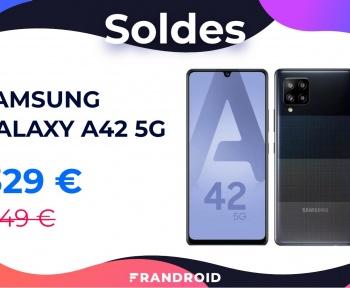 Le récent Samsung Galaxy A42 5G est déjà moins cher grâce à ce code promo spécial soldes
