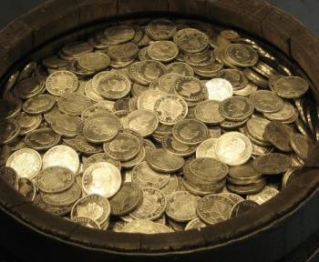 Un trésor constitué de 4 pièces d'or et des milliers de pièces d'argent récemment découvert en Hongrie