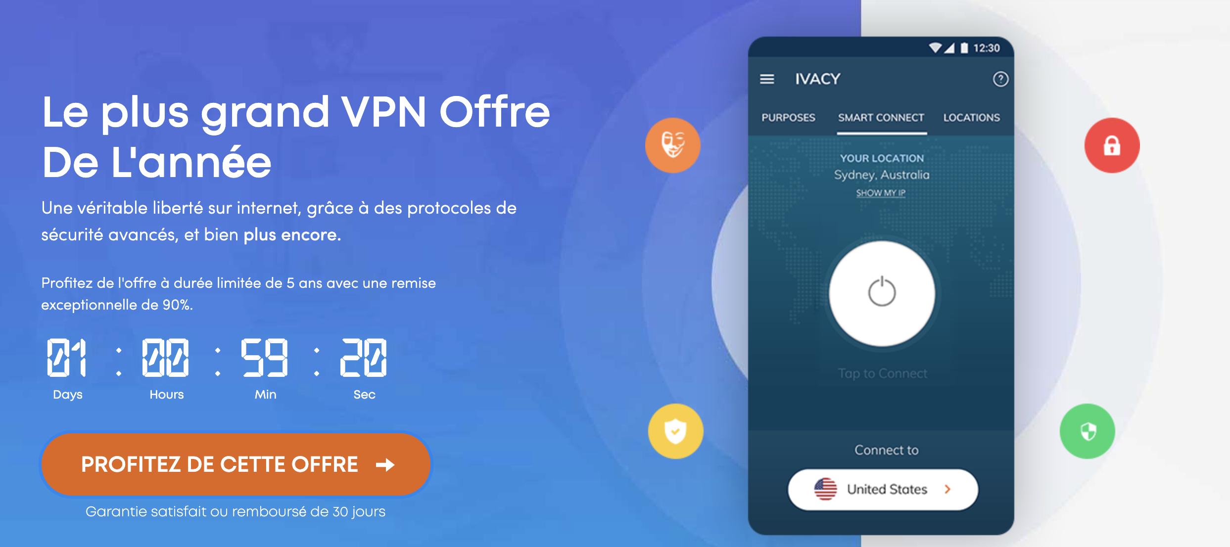 Ivacy : la solution VPN complète 0,8€ par mois
