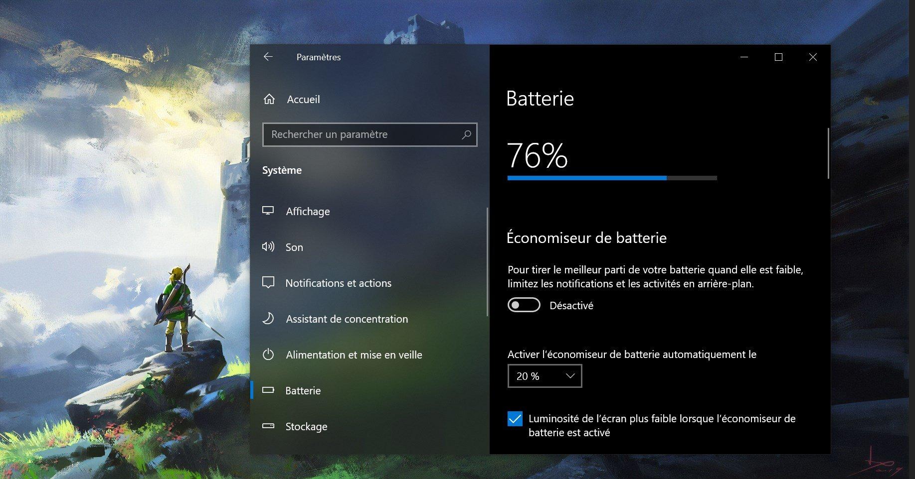 Windows 10 va accueillir un nouveau menu pour la batterie