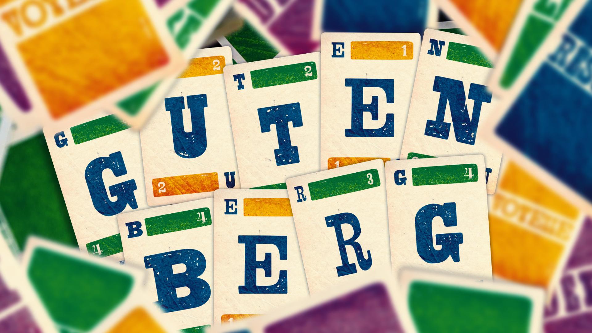 Vous n'alignez jamais plus de 5 lettres au Scrabble? Jouez plutôt à Gutenberg
