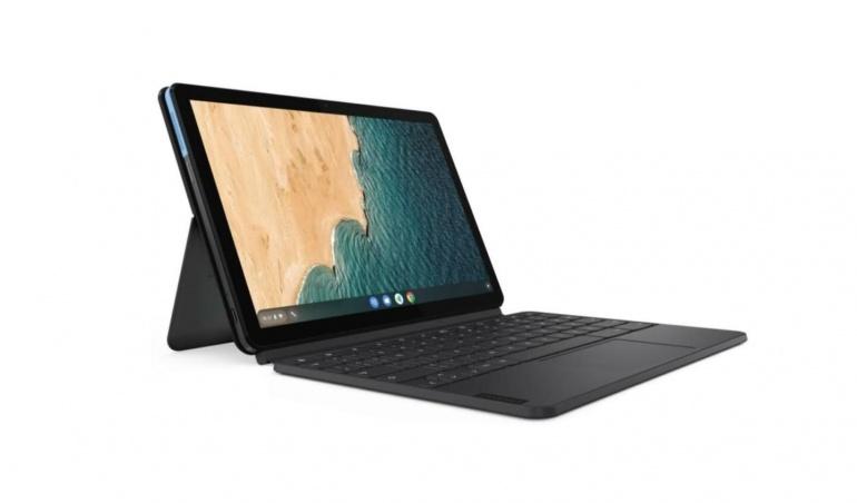 La tablette s'utilisant comme un Chromebook est en promotion chez Lenovo