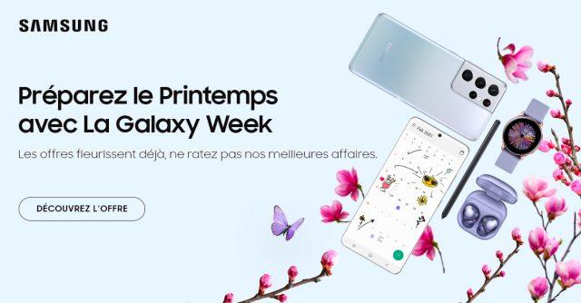 Galaxy Week : des offres chocs sur les Galaxy S21, Galaxy Z Fold 2 et Galaxy Tab S7