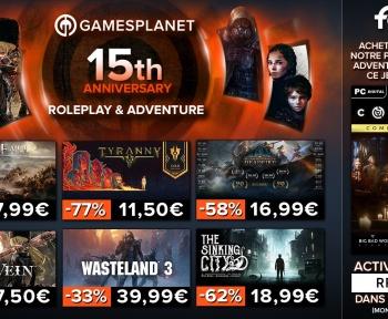 Gamesplanet : plus de 400 jeux RPG et jeux d'aventure soldés !