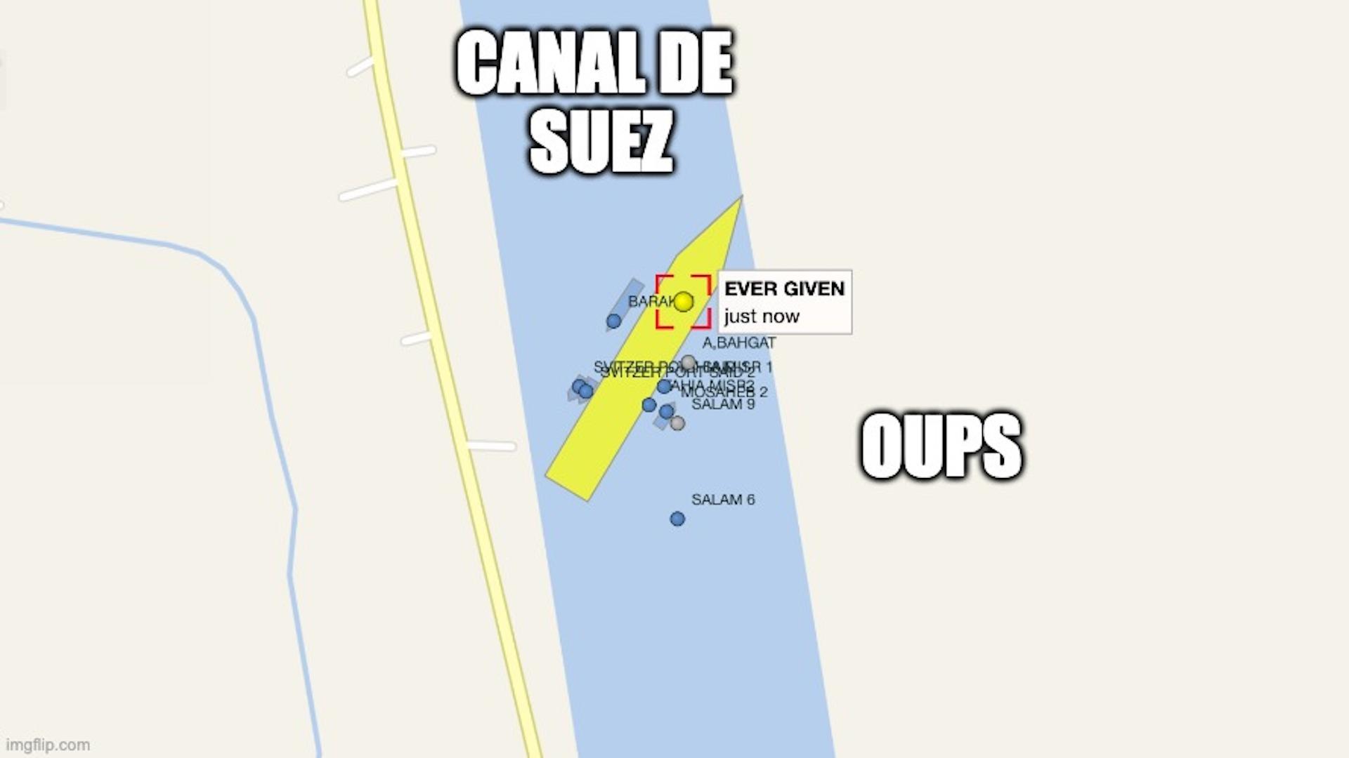 Un cargo bloque le Canal de Suez, et ce site permet de tout suivre en direct