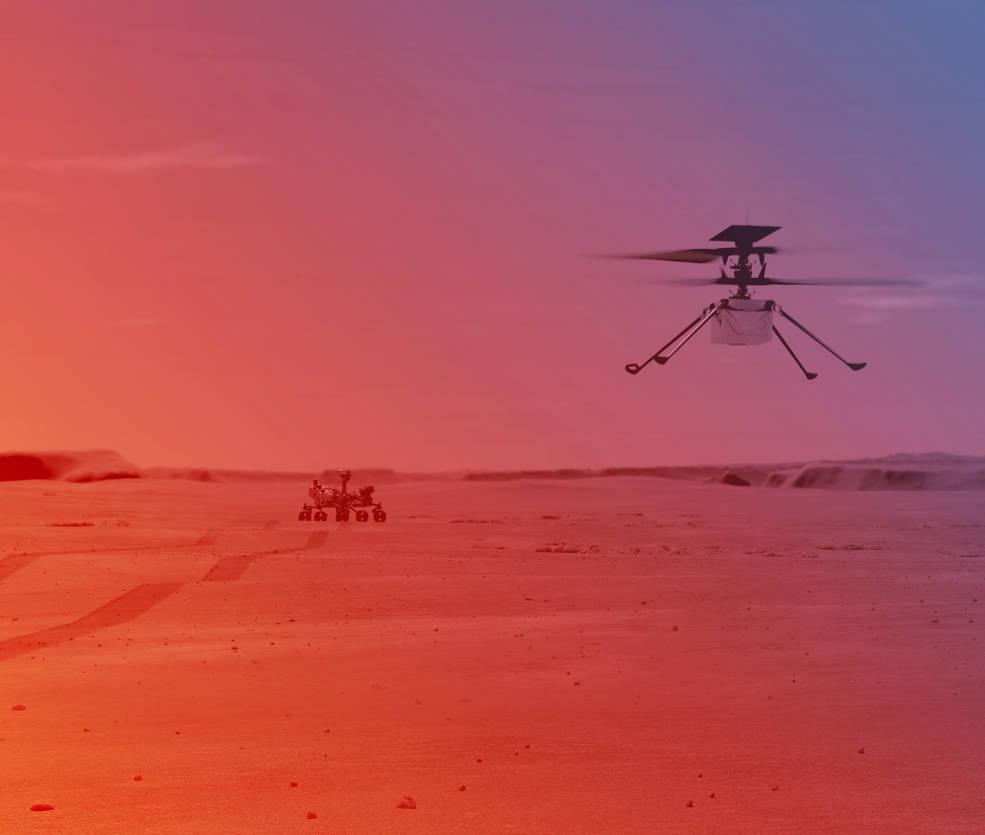 Bientôt le premier vol pour Ingenuity, le drone hélicoptère de Perseverance