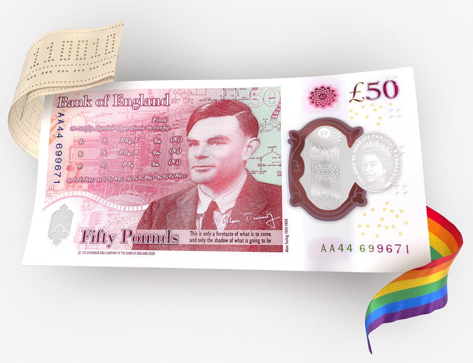 Le nouveau billet de 50£ à l'effigie d'Alan Turing bientôt en circulation