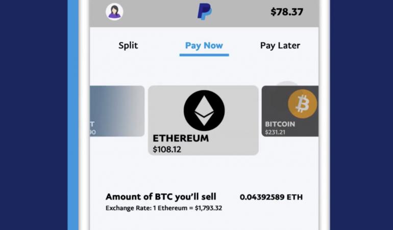 Vous pouvez utiliser PayPal pour payer en Bitcoin, Ethereum ou encore en Litecoin