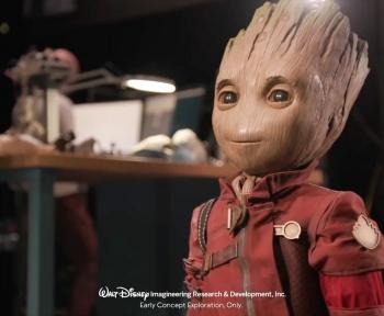 Projet Kiwi : Disney développe une version robotisée de Baby Groot qui marche toute seule