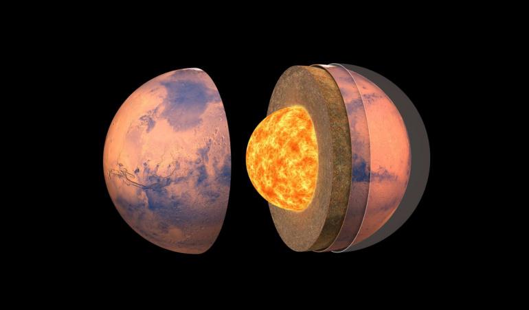 On sait désormais que Mars est «chaude et gluante» à l'intérieur